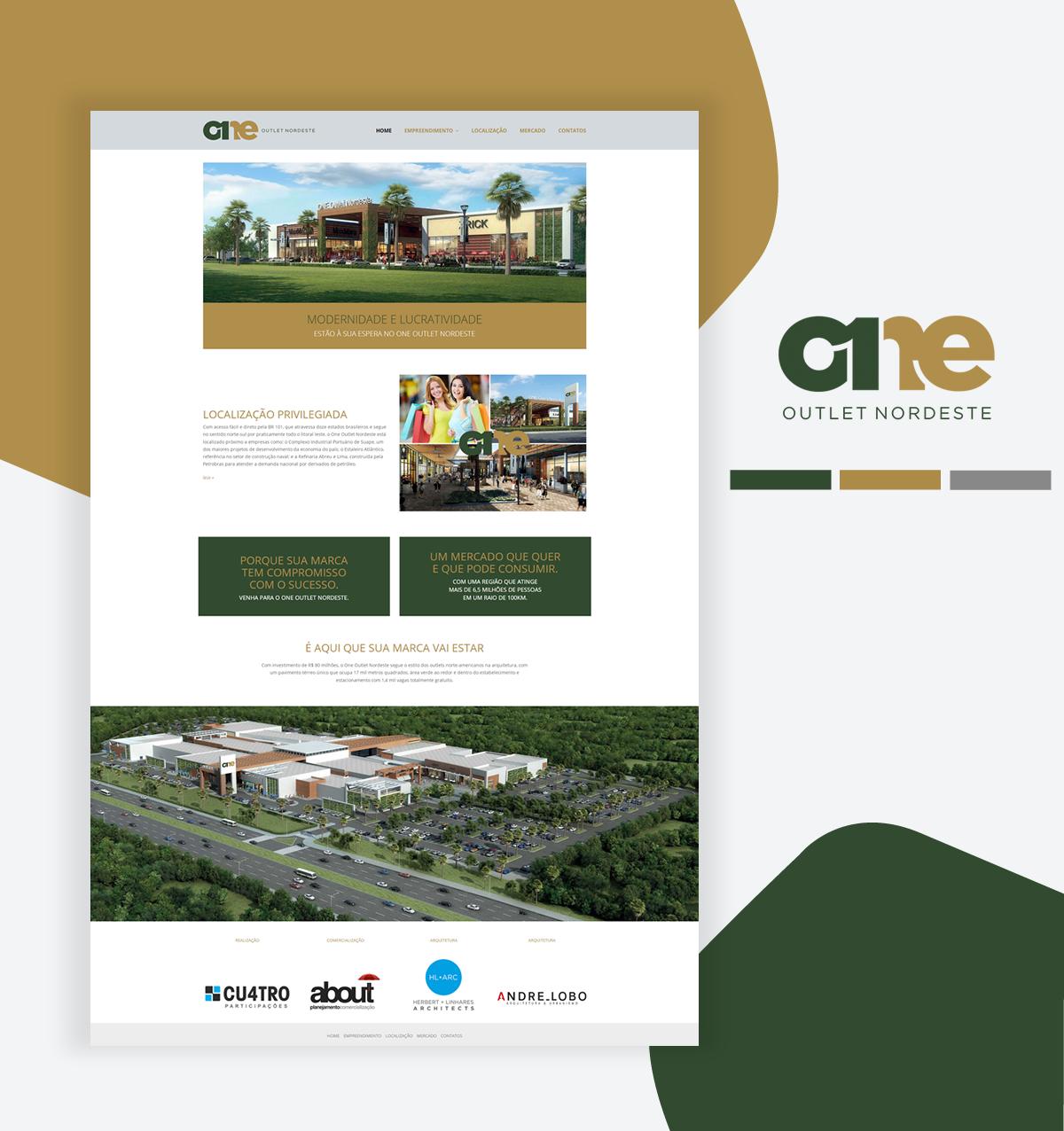 Desenvolvimento de site – ONE Outlet Nordeste