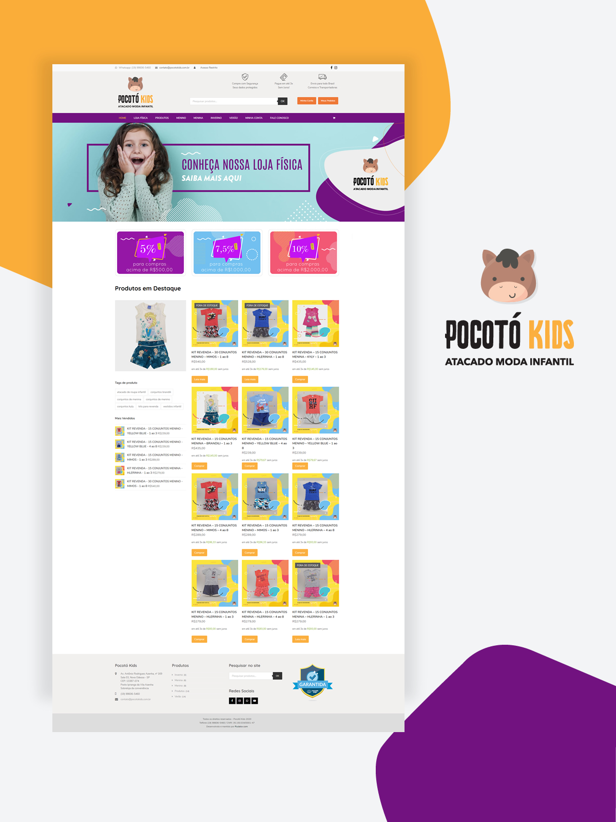 Desenvolvimento do e-commerce Pocotó Kids Moda Infantil